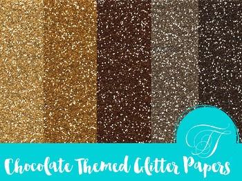 Chocolate Inspired Glitter Paper Bundle