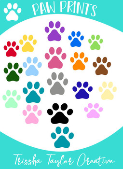 Paw Prints: Over 20 Graphics!