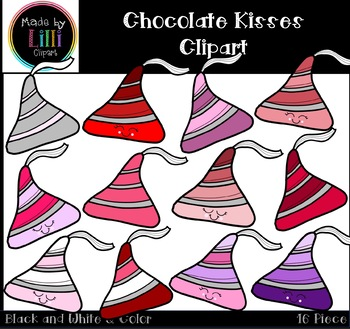 Chocolate Kisses Clipart - Valentines Day Clipart