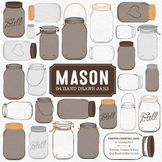 Chocolate Mason Jars Clipart & Vectors - Ball Jar Clipart
