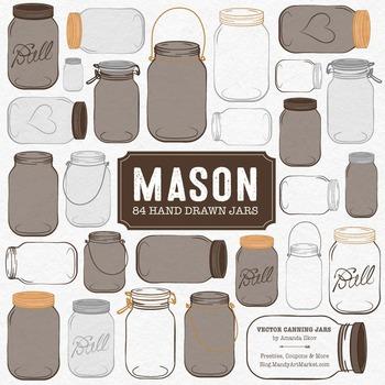 Chocolate Mason Jars Clipart & Vectors - Ball Jar Clipart