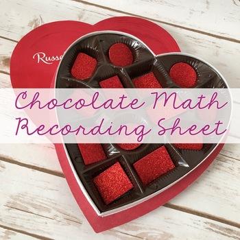Chocolate Math Recording Sheet {FREE}