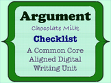 Chocolate Milk Argument - A Common Core Opinion Writing Unit - Checklist