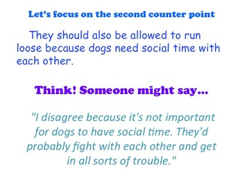 Chocolate Milk Argument - A Common Core Opinion Writing Unit - Counterpoint