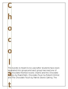Chocolate Novel Study Culminating Event Set--Editable