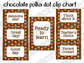 Clip Chart: Chocolate Polka Dots