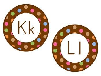 Word Wall Headers: Chocolate Polka Dots