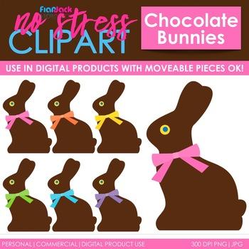 Chocolate Rabbits Clip Art (Digital Use Ok!)