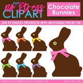 Chocolate Rabbits Clip Art (Digital Use Ok!)