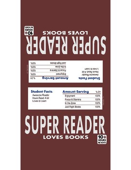Chocolate Reading Incentive - Candy Bar Wrapper