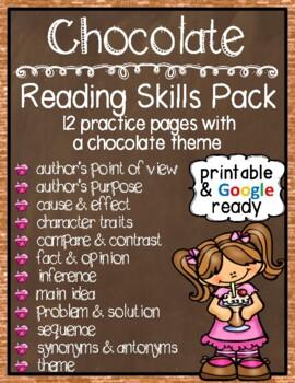 Chocolate Reading Skills Pack