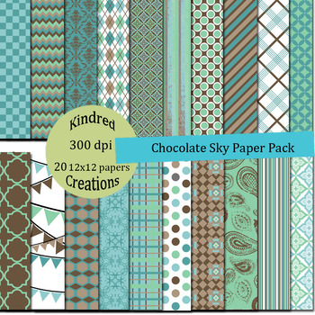 Chocolate Sky Paper Pack