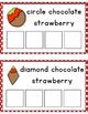 Chocolate Strawberry Shape Sorting