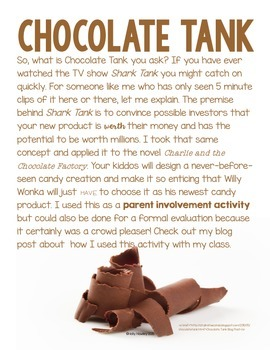 Chocolate Tank: A Charlie and the Chocolate Factory Activity