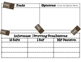 Chocolate Themed Fact-Opinion & Inferences Graphic Organizer