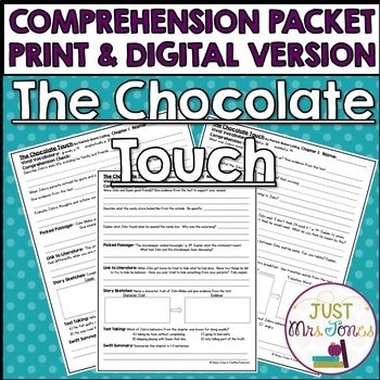 The Chocolate Touch Comprehension Packet