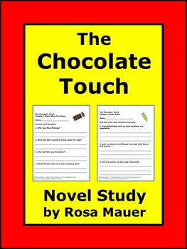 The Chocolate Touch Book Study
