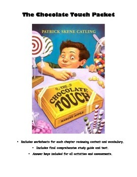 Chocolate Touch Complete Novel Study