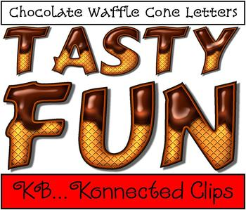 Chocolate Waffle Cone Letters