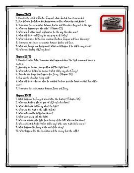 Chocolate War Reading Comprehension Activities