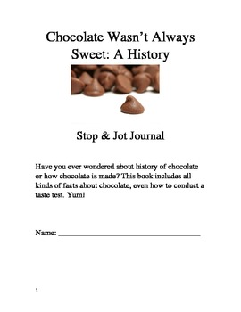 Chocolate Wasn't Always Sweet Packet - Rigby Guided Reading 4th Grade