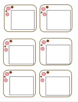 Chocolate and Pink Layered Bubbles Stationary and Labels