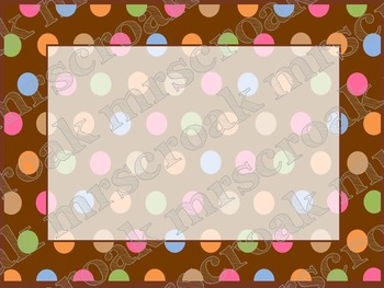 labels chocolate brown with fixed polka dots 10 per page by mrscroak