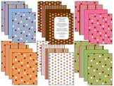 Clipart Papers: Chocolate Brown, polka dots & stripes (personal/commercial use)