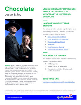 Chocolate by Jesse y Joy: Spanish Song to Practice Food Vocabulary and More