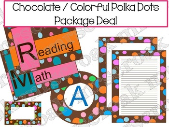 Package Deal: Chocolate with Colorful Polka Dots