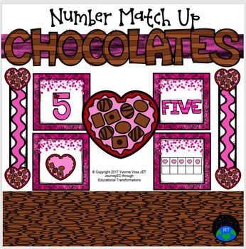 Chocolates Number Match Up Math Center
