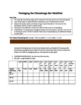 Chocolongo Activity - Exploring Surface Area
