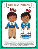 Choctaw Indians Coloring Page Craft and Poster, Native American Tribes