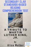 Choice: A Tribute to MLK by Alice Walker Reading Comprehension Test
