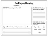 Choice Based Art Planning Sheet