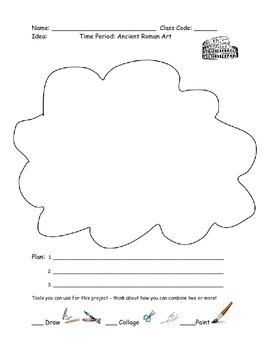 Choice Based Art worksheet - Ancient Rome