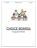 Choice Board Activities