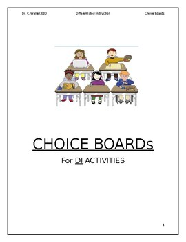 Choice Board Activities