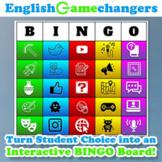 """Choice Board BINGO: 25 Creative Projects + """"Achievement Ba"""