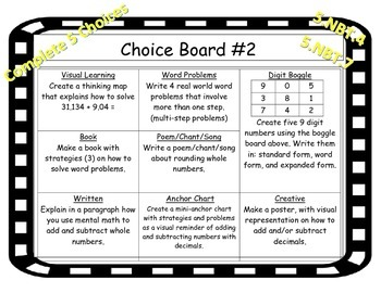 Choice Board-Basic Operations