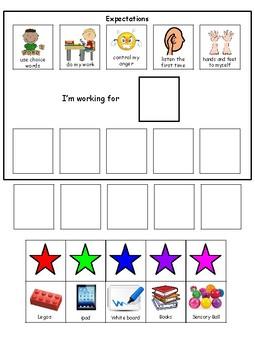 Choice Board Behavior-5 Stars