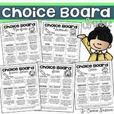 Choice Board Bundle: Fiction, Non-Fiction, Writing, Vocabulary, Genre, Biography