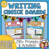 Choice Board Bundle Reading Activities Writing Prompts Dis