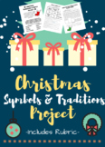 Choice Board Christmas Project for Upper Elementary with Rubric