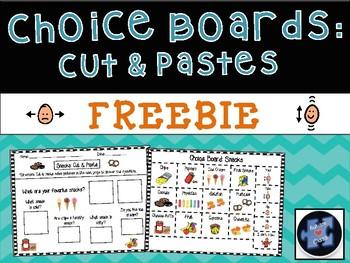 Choice Board Cut and Paste FREEBIE!