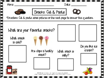 Choice Board Cut and Paste FREEBIE!
