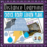 Choice Board Distance Learning Desastres Naturales Pretéri