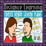 Choice Board Distance Learning People & Events Pretérito v