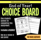 Choice Board-End of the Year!
