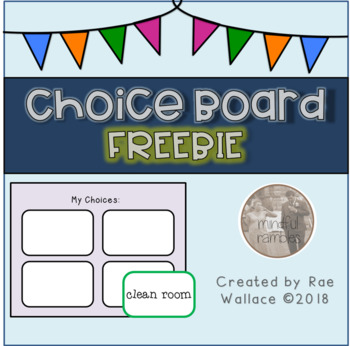 Choice Board Freebie